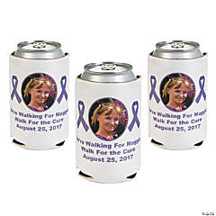 Lavender Awareness Ribbon Custom Photo Can Covers