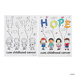 Childhood Cancer Awareness Coloring Pages