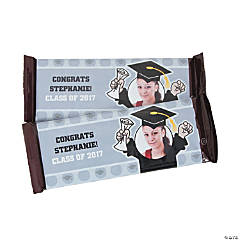 Mortarboard Custom Photo Candy Bar Wrappers
