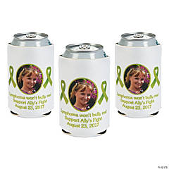 Lime Green Awareness Ribbon Custom Photo Can Covers