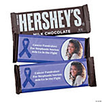 Purple Ribbon Custom Photo Candy Bar Wrappers