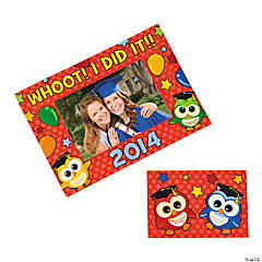"""2014"" Graduation Owl Magnetic Picture Frame"