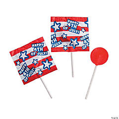 4th of July Printed Lollipops