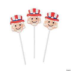 Uncle Sam Character Lollipops