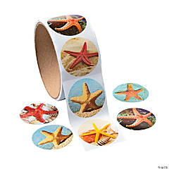 Starfish Photo Roll of Stickers