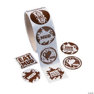 Mud Run Roll of Stickers