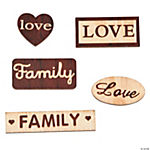 Wood Veneer Shapes Words Pack