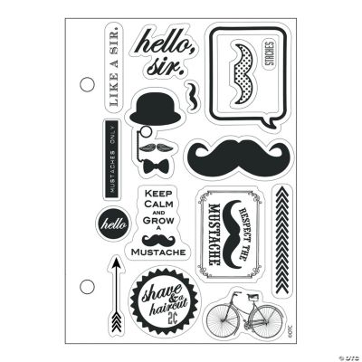 Mustache and Monocle Stamps