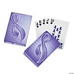 Purple Ribbon Playing Cards