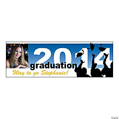 Small 2014 Silhouette Graduation Custom Photo Banner