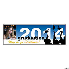 Medium 2014 Silhouette Graduation Custom Photo Banner