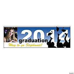 Large 2014 Silhouette Graduation Custom Photo Banner