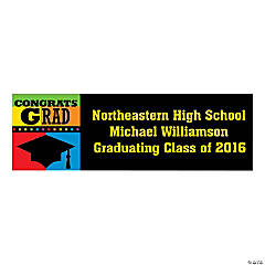 Small Personalized Congrats Grad Banner