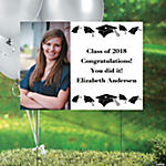 White Class of 2014 Graduation Custom Photo Yard Sign