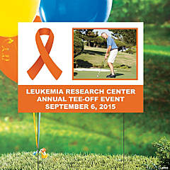 Orange Awareness Ribbon Custom Photo Yard Sign