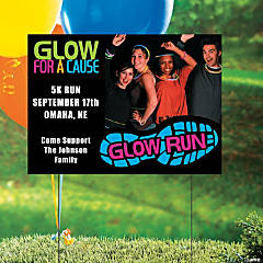 Glow Run Custom Photo Yard Sign