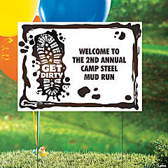 Personalized Mud Run Yard Sign