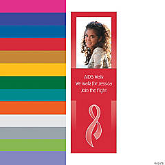 Small Awareness Ribbon Custom Photo Vertical Banner