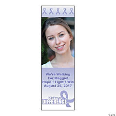 Small Lavender Awareness Ribbon Custom Photo Vertical Banner