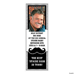Small Mustache Custom Photo Vertical Banner