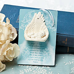 Angel Wings Baptism Ornament with Prayer Card