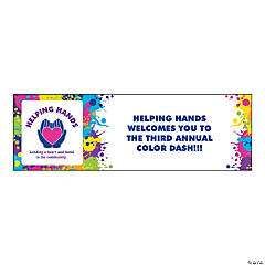 Small Color Run Custom Photo Banner