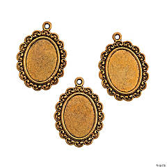 Antique Gold Frame Pendants
