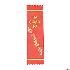 Satin I'm Going To Kindergarten Graduate Ribbons