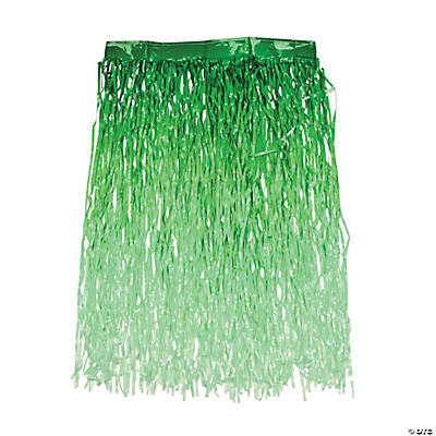 Green Ombre Color Grass Hula Skirt