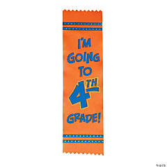 Satin I'm Going to 4th Grade Graduate Ribbons