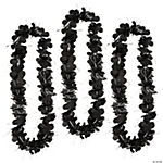 Black & Silver Tinsel Leis