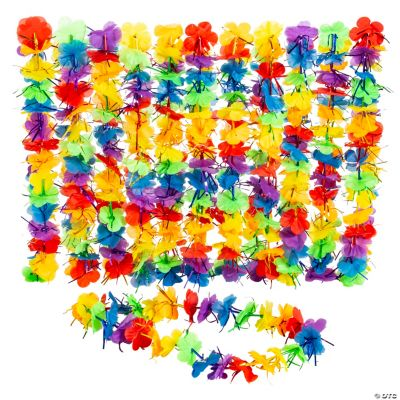 Rainbow Tinsel Leis