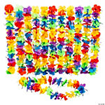 Rainbow Tinsel Leis