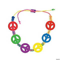 Neon Peace Sign Friendship Bracelets