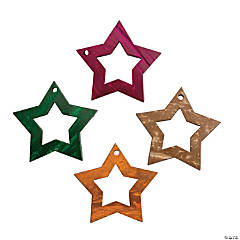 Coconut Shell Star Charms