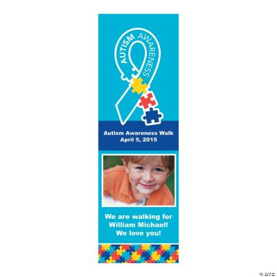 Small Autism Awareness Custom Photo Vertical Banner