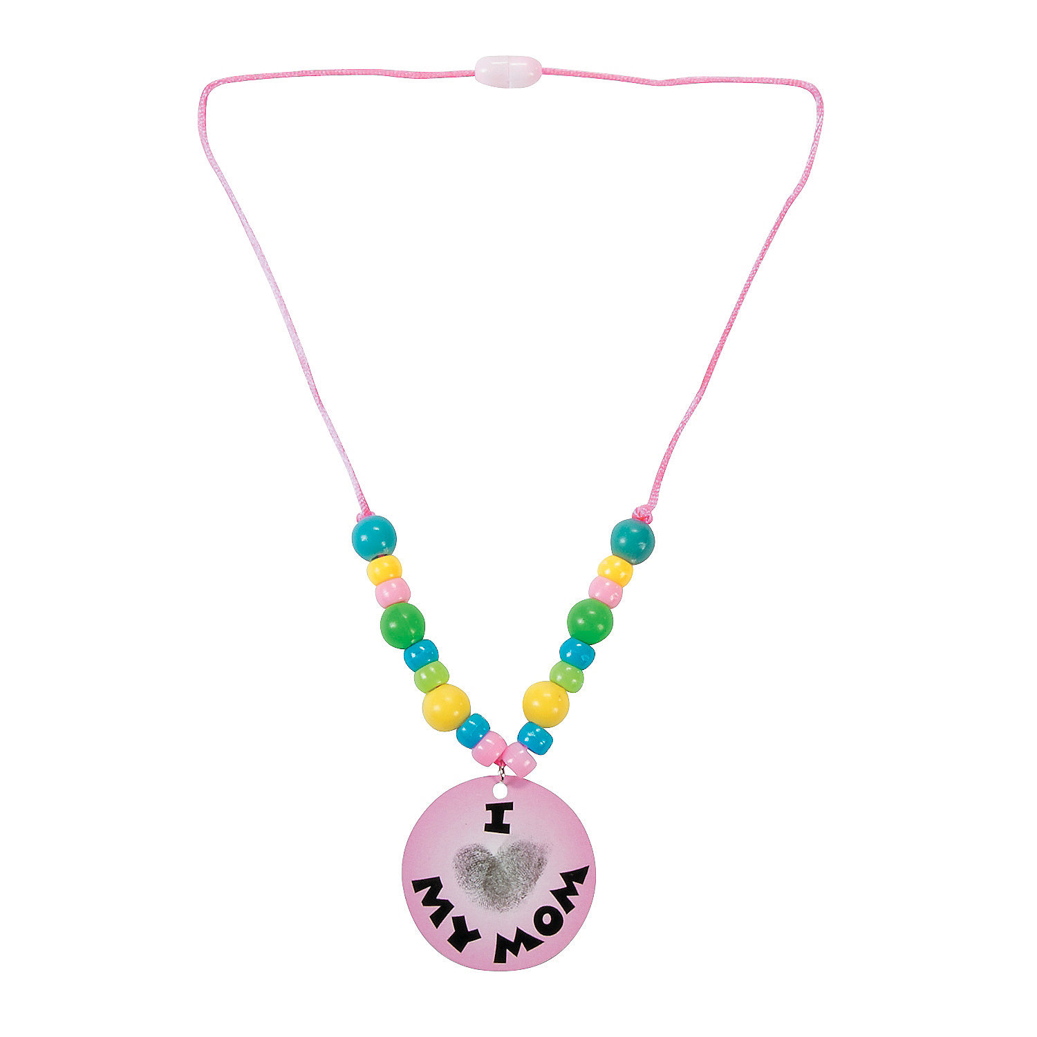 Thumbprint mothers day necklace craft kit oriental trading for Mother s day craft kits