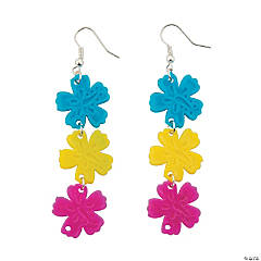 Bright Hibiscus Earrings