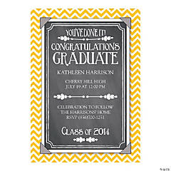 Class of 2014 Chevron Graduation Personalized Invitations