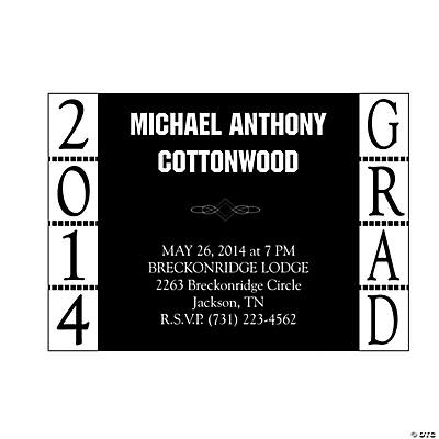 2014 Grad Personalized Invitations
