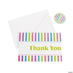 Striped 2014 Graduation Thank You Notes