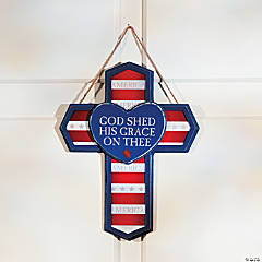 Patriotic Cross Door Hanger