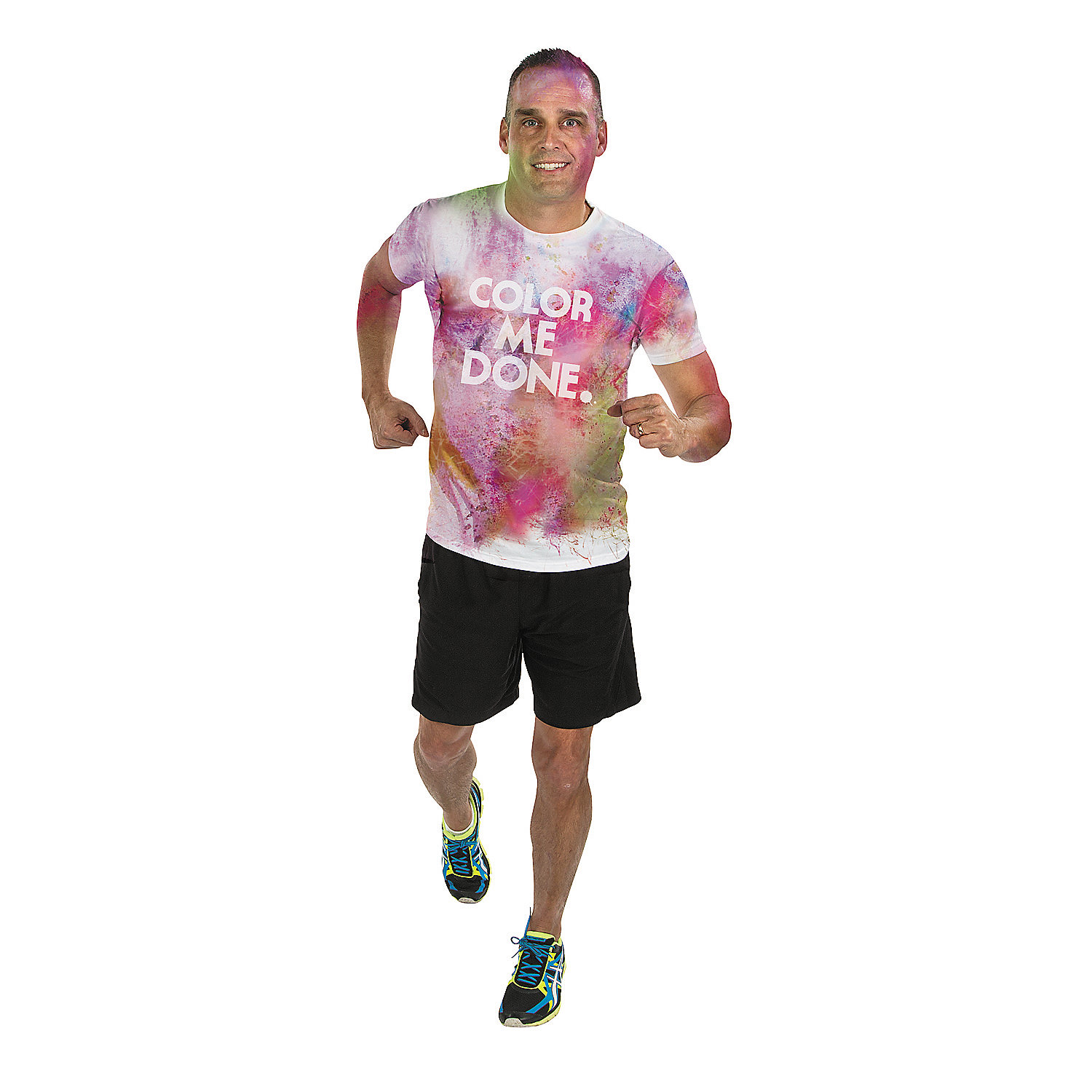 color run whiteout t shirt oriental trading
