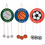 Paper Plate Sports Door Sign Craft Kit