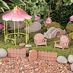 Wooden Fairy & Gnome Garden