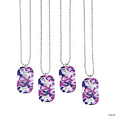 Purple Awareness Ribbon Camouflage Dog Tags