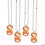 Orange Awareness Ribbon Camouflage Dog Tags