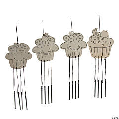 Color Your Own Cupcake Windchimes