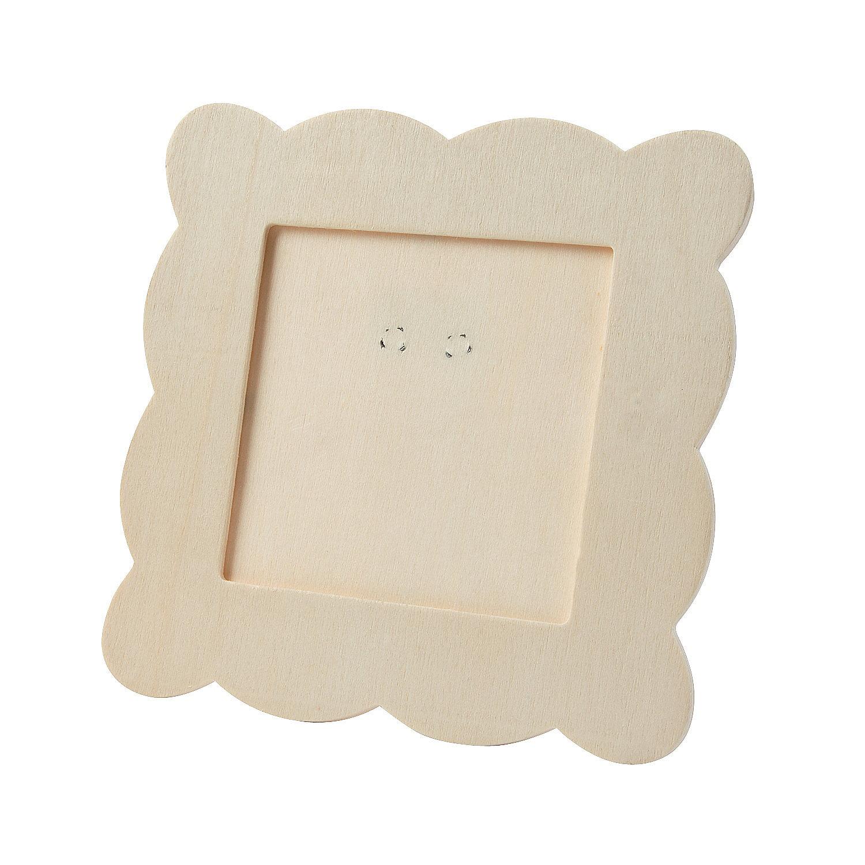 Diy unfinished wood scallop square frame diy crafts for Unfinished wood frames for crafts