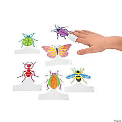 Color Your Own Bugs Finger Puppets